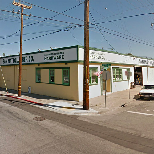 Google drive by of San Mateo Lumber Company - South Claremont Street & 4th Avenue, San Mateo